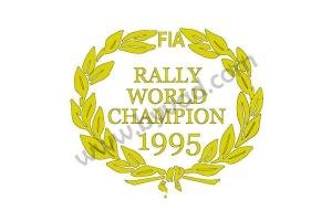 Deux stickers Rally World Champion 1995