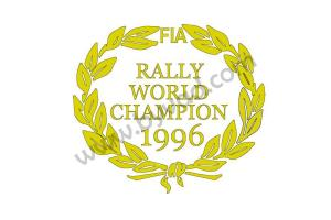 Deux stickers Rally World Champion 1996