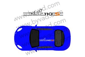 Sticker de toit Alpine A110 S bicolore