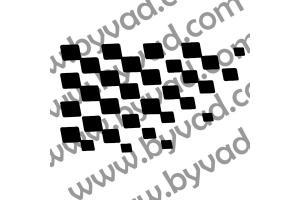 Sticker de toit Damier Renault Sport Clio 4