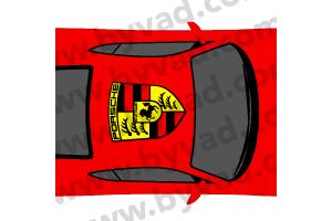 Sticker de Toit logo Porsche