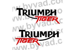 2 Stickers Triumph TIGER