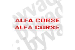 2 stickers Alfa Roméo Corse