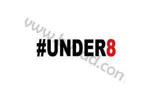Sticker #Under8 - 20 cm