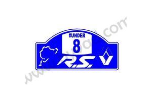 Sticker Plaque de rallye UNDER8 RS NURBURGRING