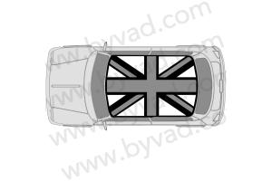 Sticker de toit union jack austin mini GRIS/BLANC