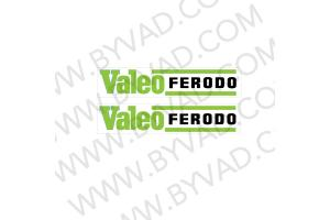 2 Stickers Valeo Ferodo