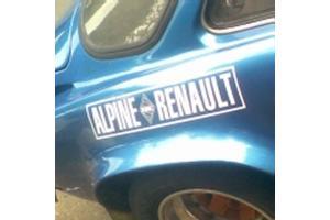 Autocollant  ALPINE RENAULT x 2
