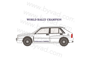 Autocollant bas de porte WORLD RALLY CHAMPION Lancia