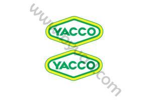 2 stickers YACCO 15 cm