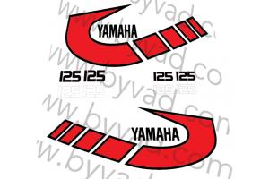 Kit complet stickers YAMAHA TY 125 1K6 1977 à 1979