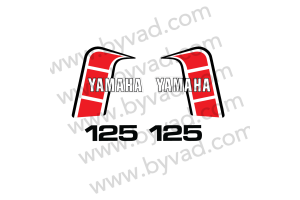 Kit complet stickers YAMAHA 125 YZ J 1982