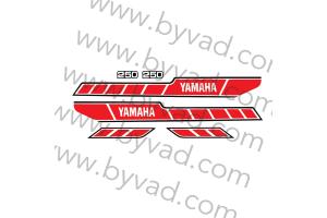 Kit complet stickers YAMAHA 250 RDX 1978