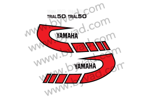 Kit complet stickers YAMAHA TY 50 1K6