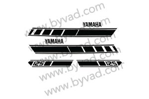 Kit complet stickers YAMAHA 125 RDX 1E7 1977