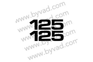 Deux autocollants 125 pour YAMAHA YZ version EURO