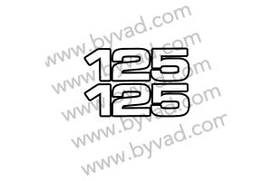 Deux autocollants 125 pour YAMAHA YZ version US