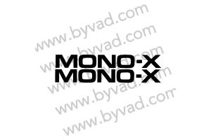 Deux autocollants Moto MONO-X pour Yamaha YZ