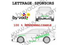 Lettrage sponsors 100 cm